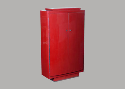 Rulhmann/Dunand Red Lacquer Cabinet