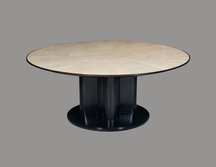 Rulhmann Style Lacquer and Shagreen Dining Table