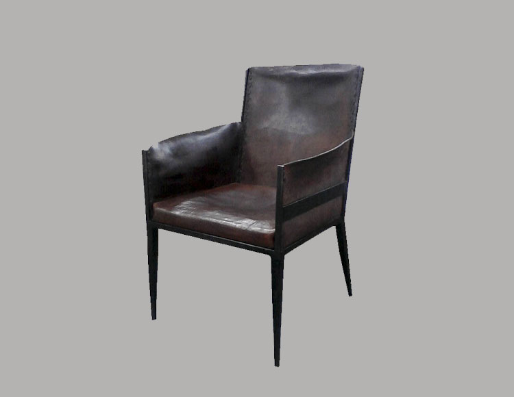 Jean Micheal Frank Leather Armchair