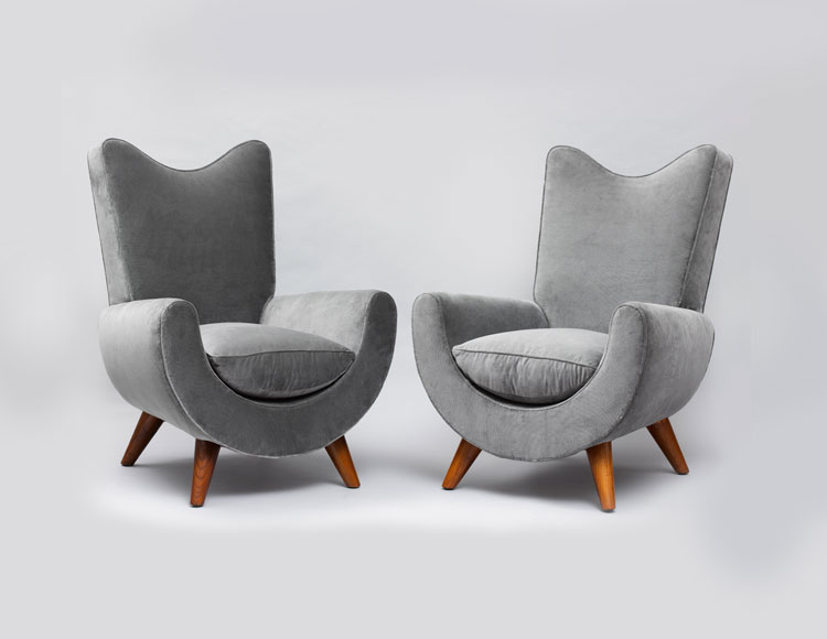 Jean Royere Style Ambassador Chairs